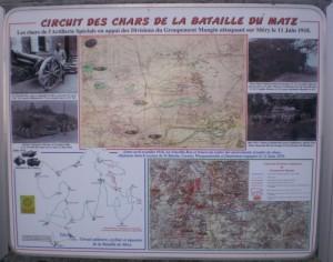 Circuit des chars Panneaux de La Neuville-Roy