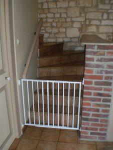 escalier sécurisé au rdc